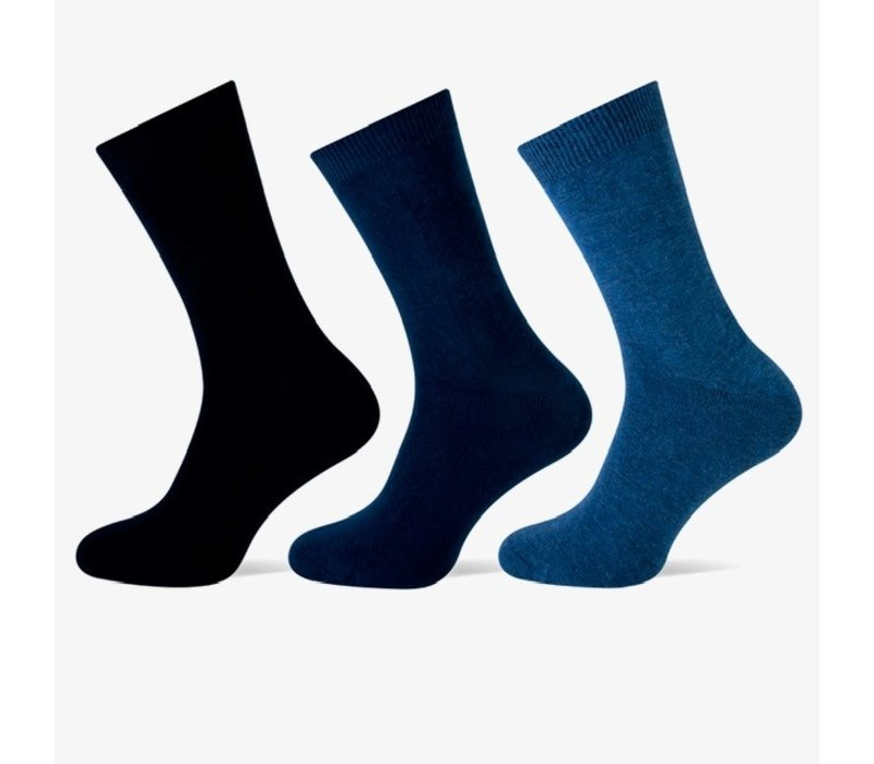 Teckel Dames sokken Blauw bundel van 3