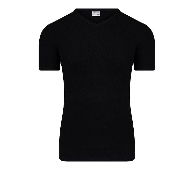 Heren T-shirt met V-Hals  M3000 Zwart
