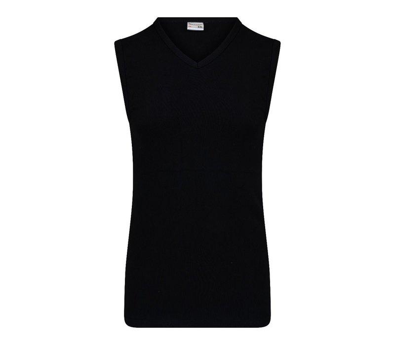 Heren Mouwloos shirt V-hals M3000 Zwart