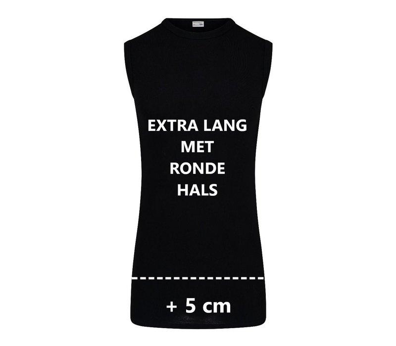 Heren Extra lang mouwloos shirt  M3000 Zwart