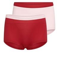 Beeren 2-Pack Mix&Match Meisjes Boxer Mix Roze/Donkerrood