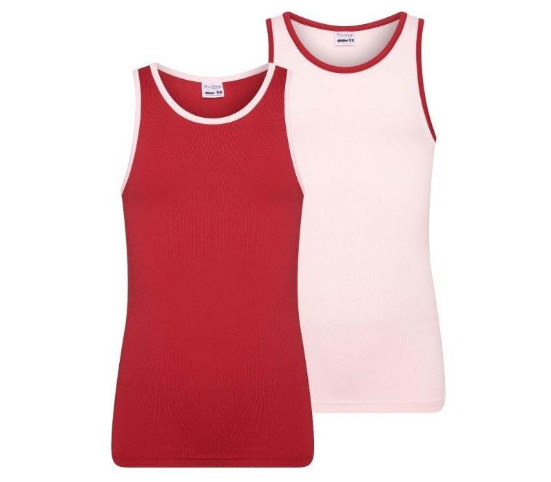 Beeren 2-Pack Mix&Match Meisjes Hemd Mix Roze/Donkerrood