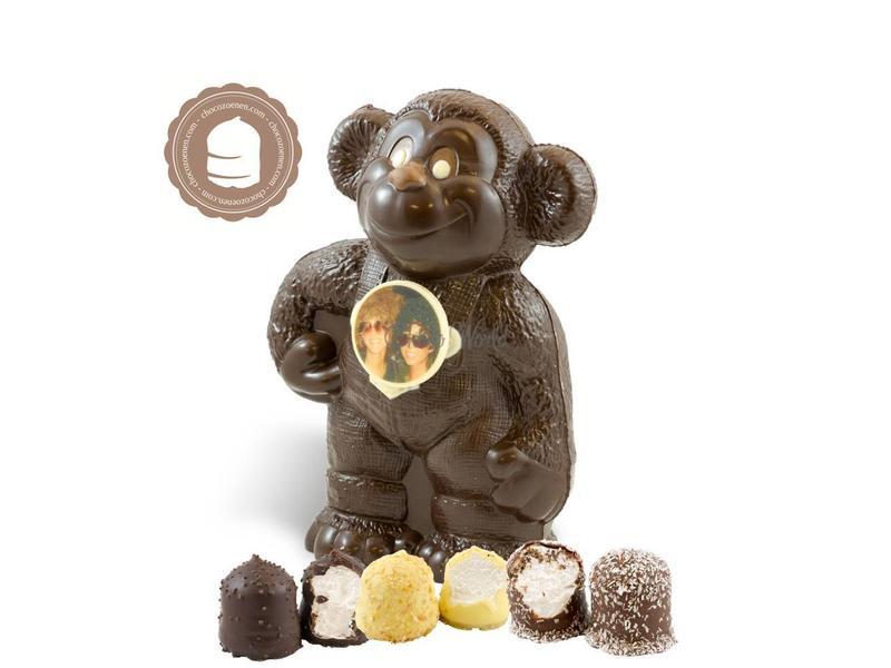 Chocolade Aap met Foto en Zoenen