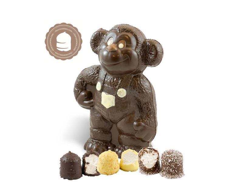 Chocolade Aap met  6 Chocozoenen