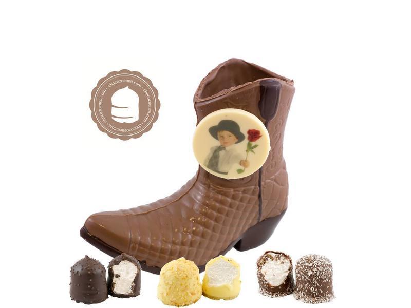 Chocolade Cowboy Laars met Foto en  6 Zoenen