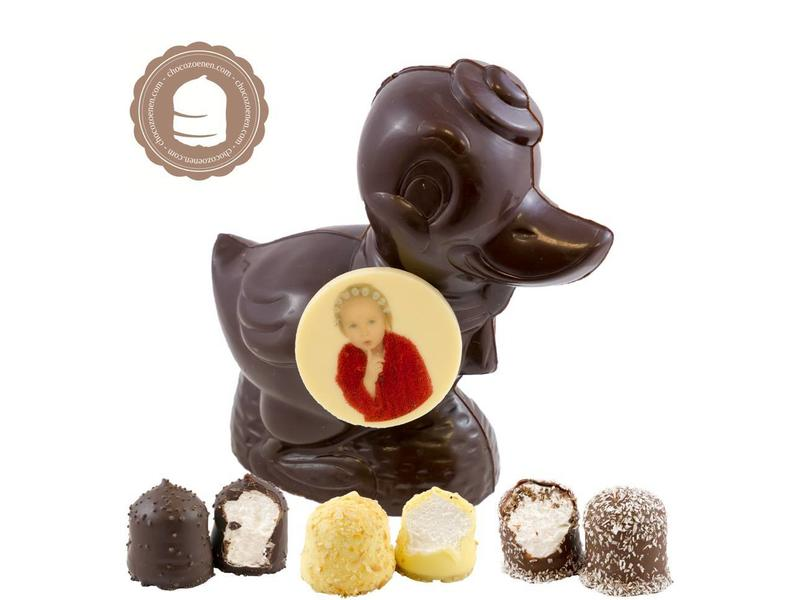 Chocolade Eend met Foto en  6 Zoenen