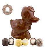 Chocolade Eend met  6 Chocozoenen
