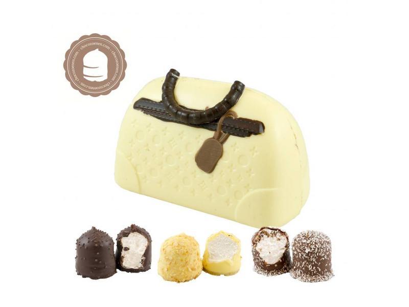 Chocolade Handtas met  6 Chocozoenen