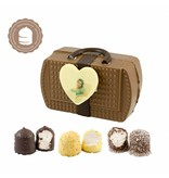 Chocolade Handtasje met Foto en  6 Zoenen
