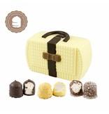 Chocolade Handtasje met  6 Chocozoenen