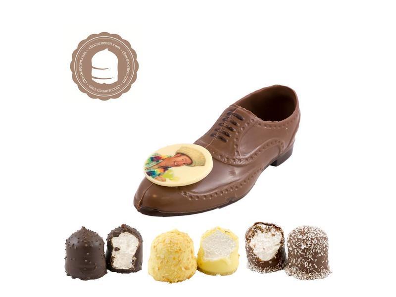 Chocolade Herenschoen met Foto en  6 Zoenen