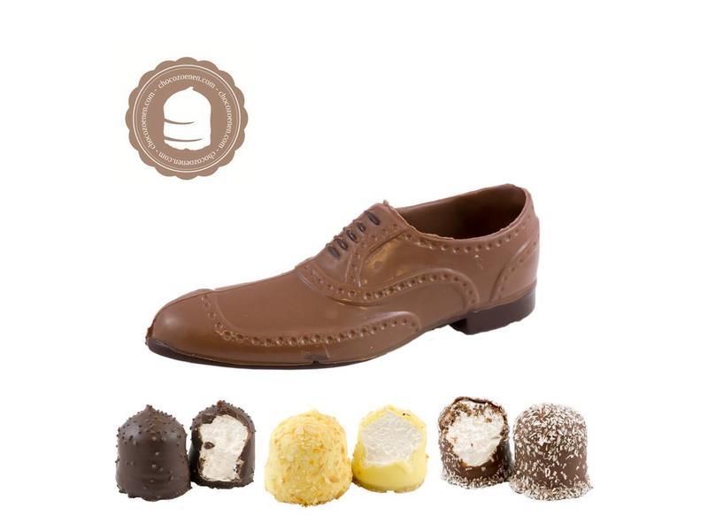 Chocolade Herenschoen met  6 Chocozoenen