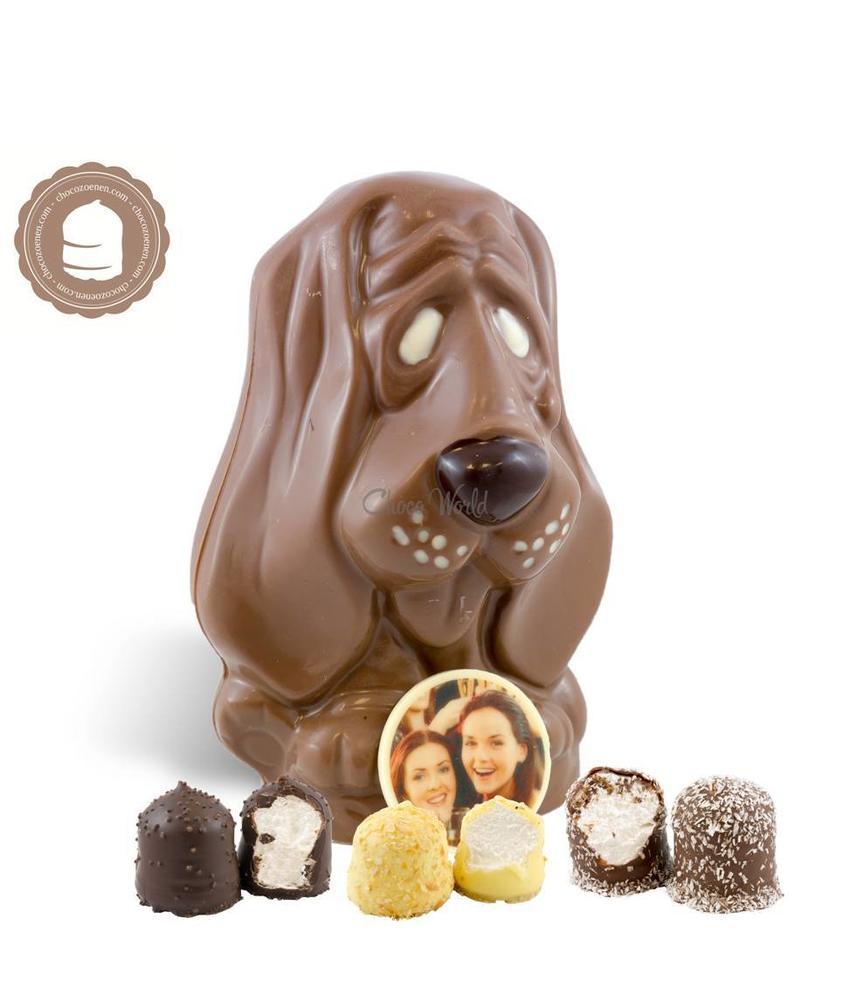 Chocolade Hond met Foto en  6 Zoenen