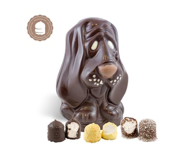 Chocolade Hond met  6 Chocozoenen