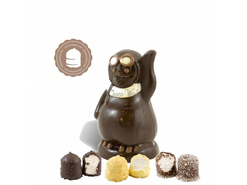 Chocolade Pinguin met  6 Chocozoenen