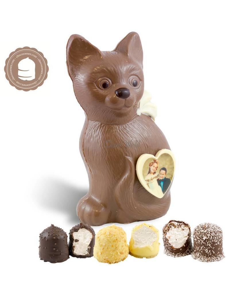 Chocolade Poes met Foto en  6 Zoenen