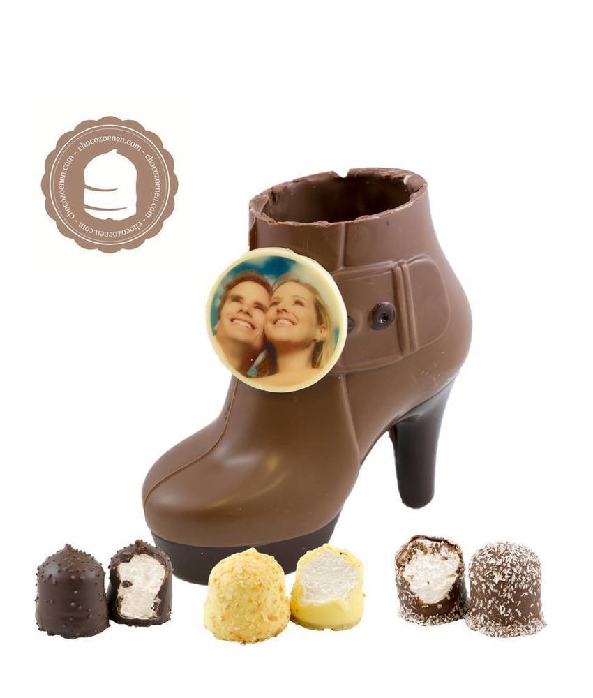 Chocolade Pump met Foto en  6 Zoenen