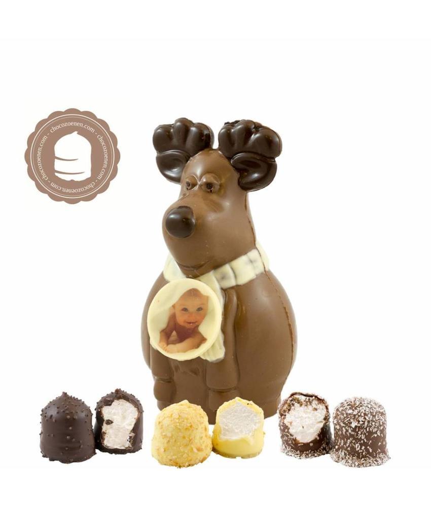 Chocolade Rudolf met Foto en  6 Zoenen