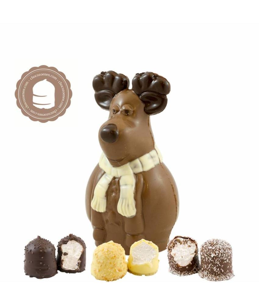 Chocolade Rudolf met  6 Chocozoenen