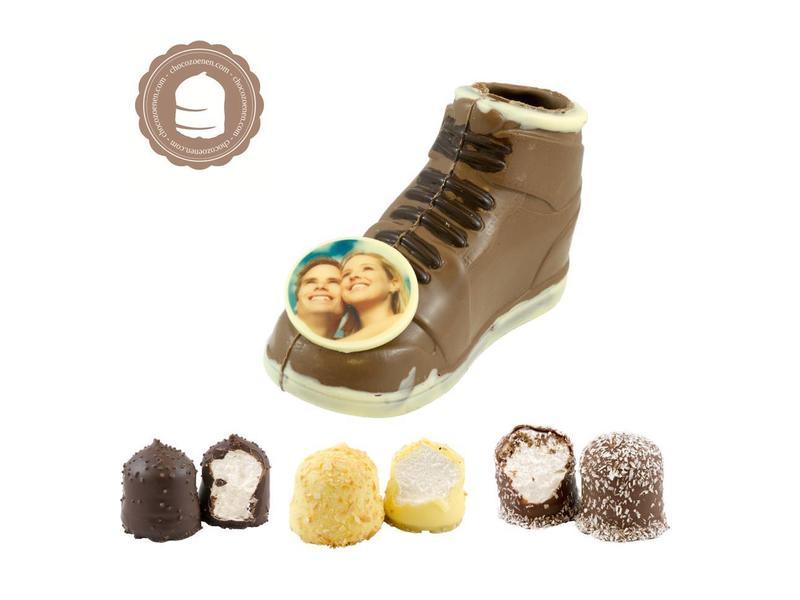 Chocolade Sneaker met Foto en  6 Zoenen