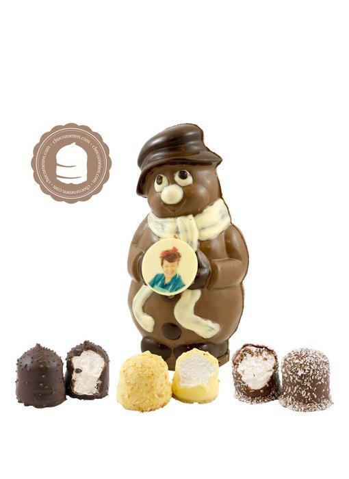 Chocolade Sneeuwman met Foto en  6 Zoenen