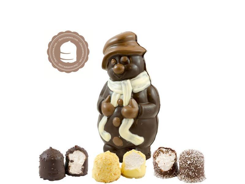 Chocolade Sneeuwman met  6 Chocozoenen
