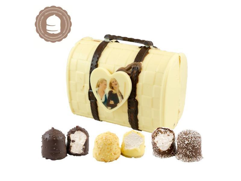 Chocolade Tas met Foto en  6 Zoenen