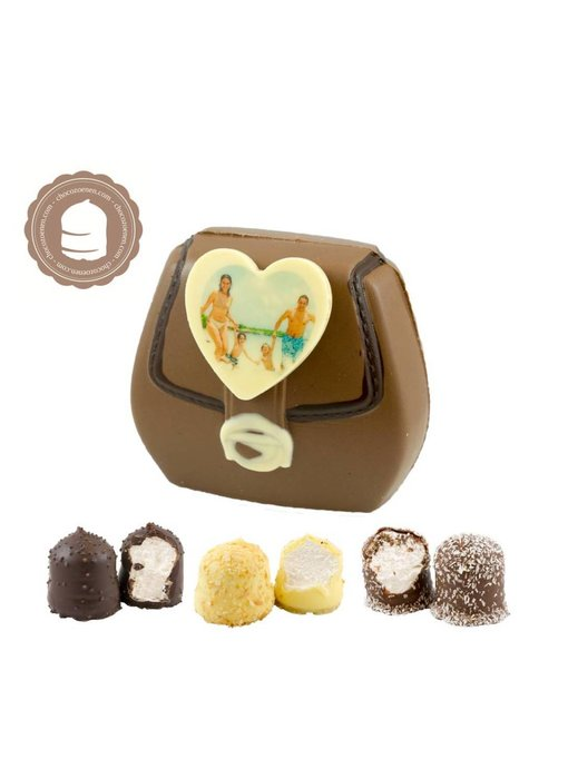 Chocolade Tasje met Foto en  6 Zoenen