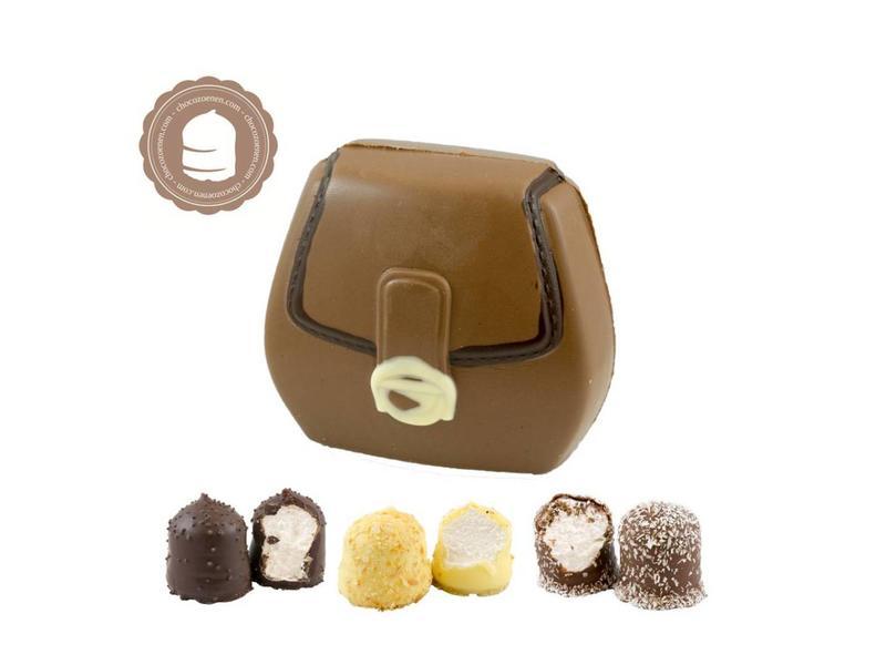 Chocolade Tasje met  6 Chocozoenen