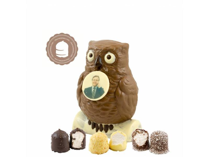Chocolade Uil met Foto en  6 Zoenen