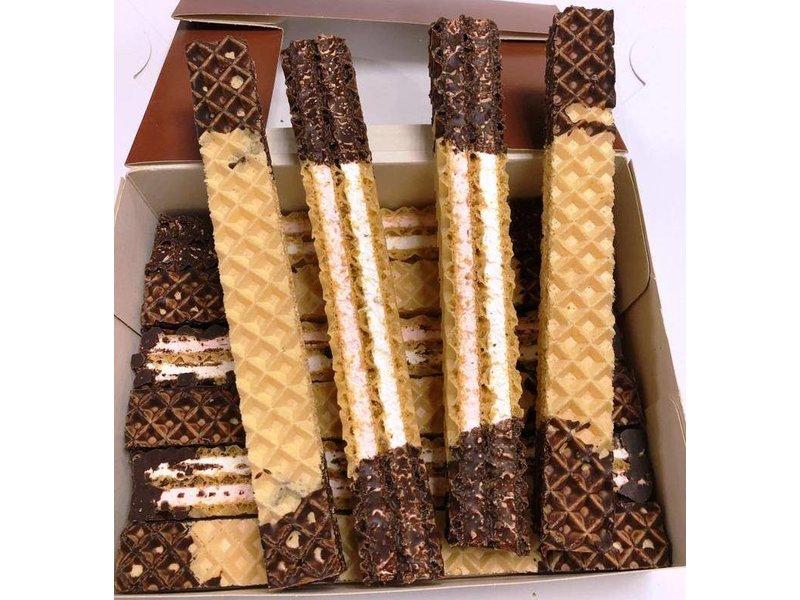 Wafel Stangen  /  Schnitten chocolade