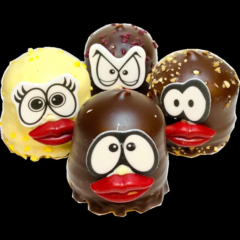Chocozoenen gezichtjes