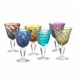 Pols Potten Wijnglazen Multicolour set van 6