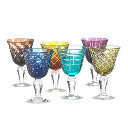 Pols Potten Wine Glasses Cuttings Set of 6