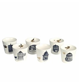 Pols Potten Freedom Birds cup set of 6