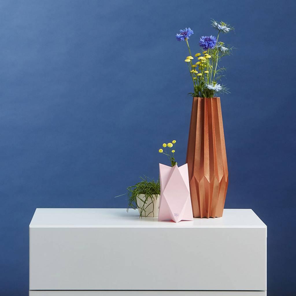 Grußkarte-Vase XoXo Rosa