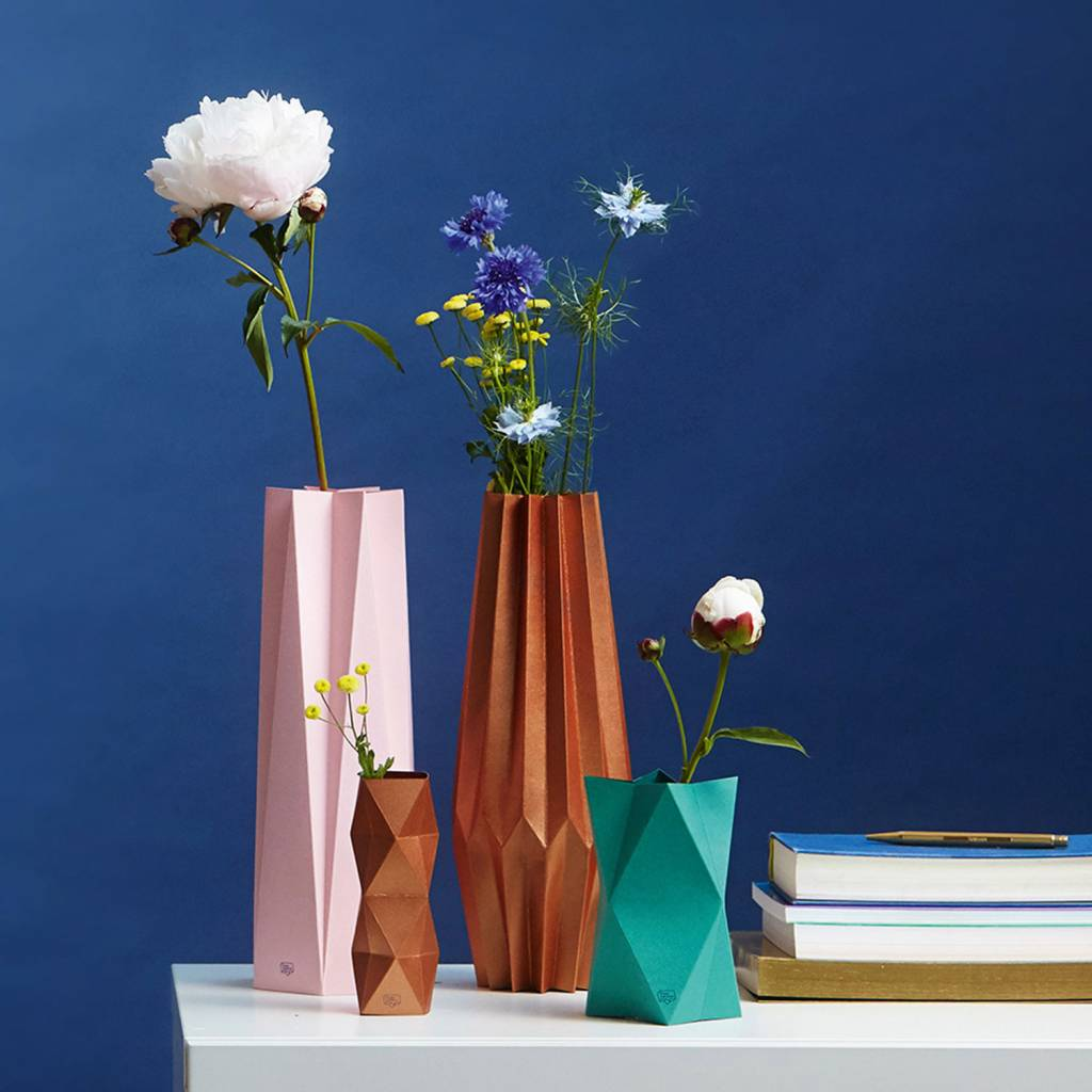 Card-Vase Impress Copper
