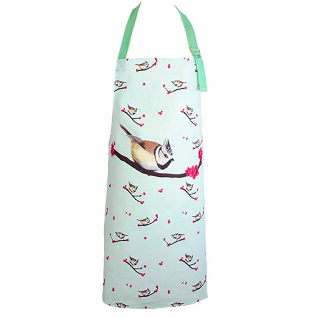 Apron With Crested Tit
