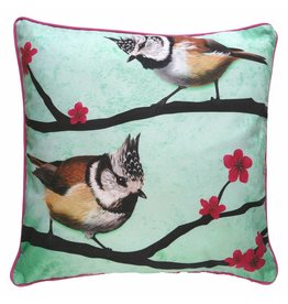 Myrte Cushion cover Crested tits