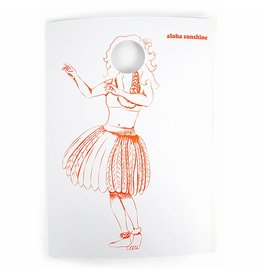 WowGoods Greeting Card Coloring Page Aloha Sunshine