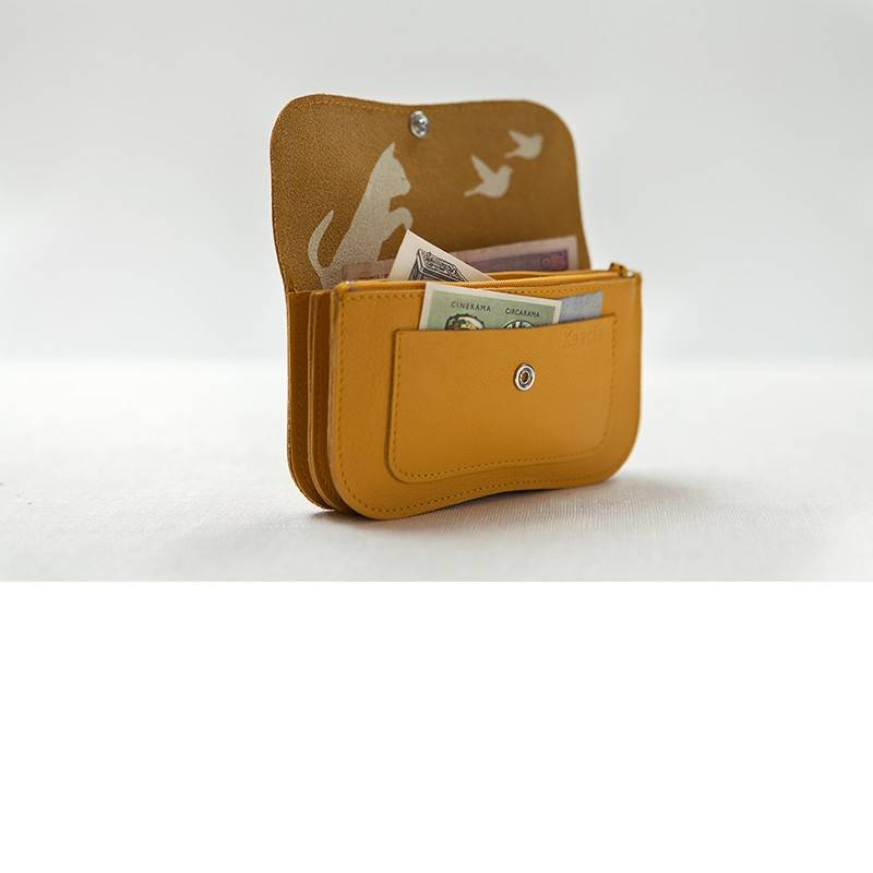 Wallet Cat Chase Yellow