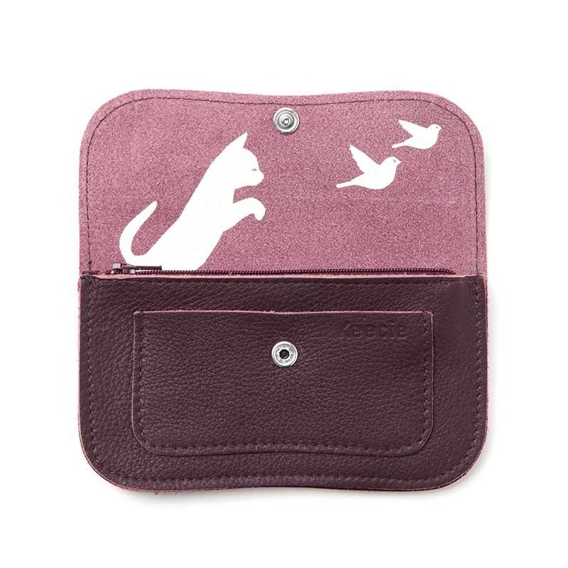 Wallet Cat Chase Eggplant