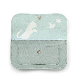 Keecie Wallet Cat Chase Dusty Green