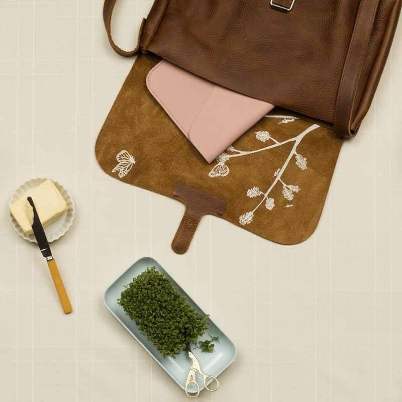 Tasche Flora & Fauna Cognac