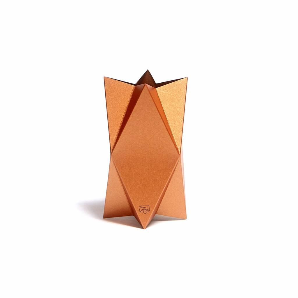 Grußkarte-Vase Impress Kupfer