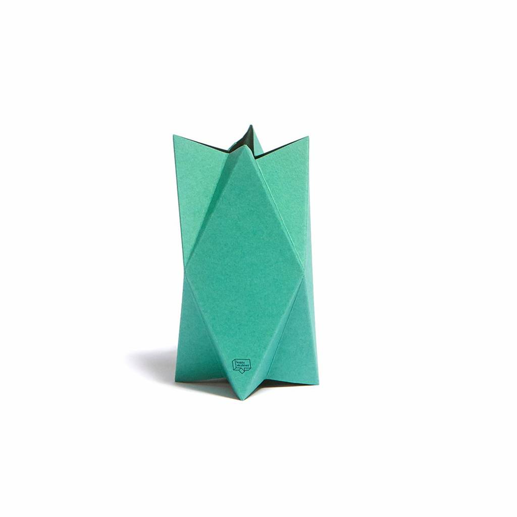 Card-Vase Impress Green