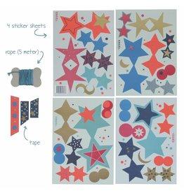 ENGELpunt DIY Girlande Sterne Blau
