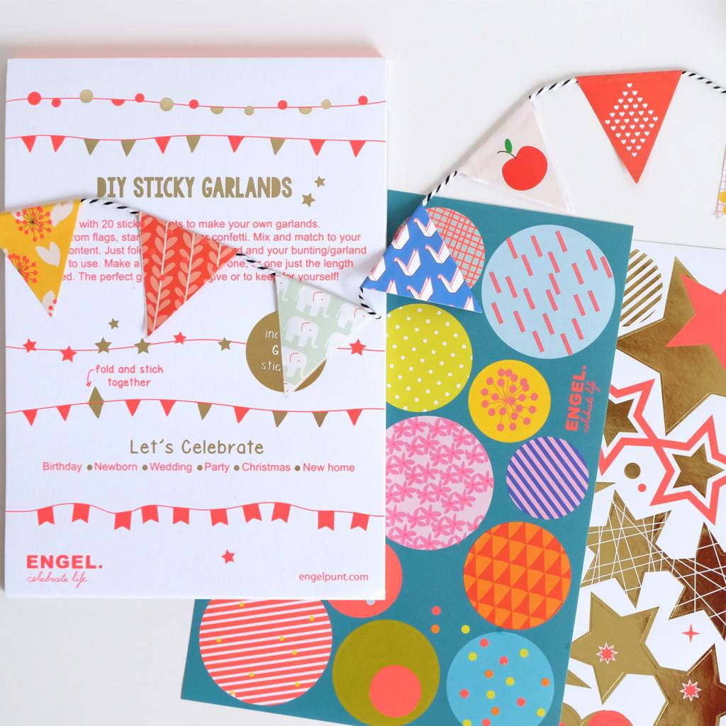 DIY Sticker Garland Booklet
