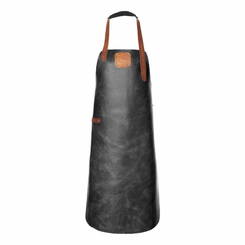 Leather Apron Black/Cognac