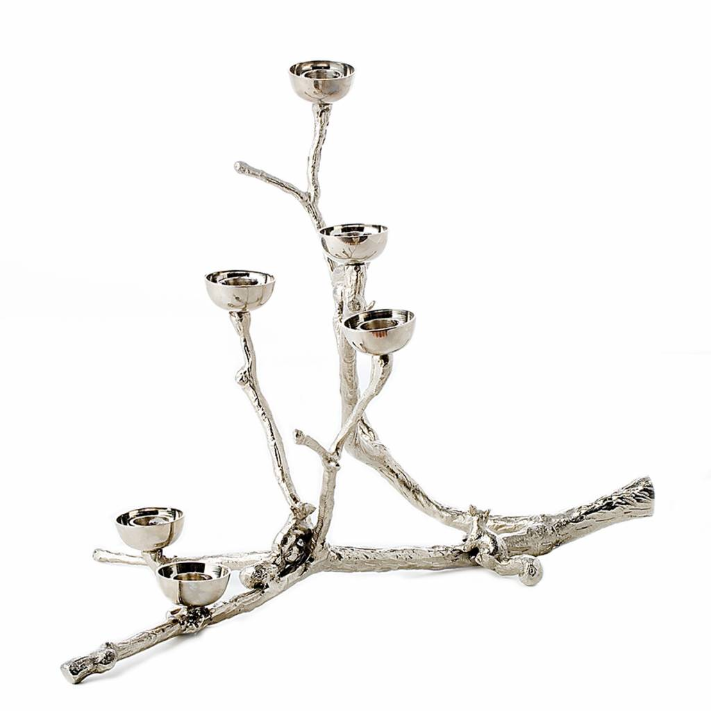 Candle Holder Twiggy with squirrels